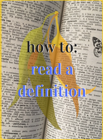 how to read a definition
