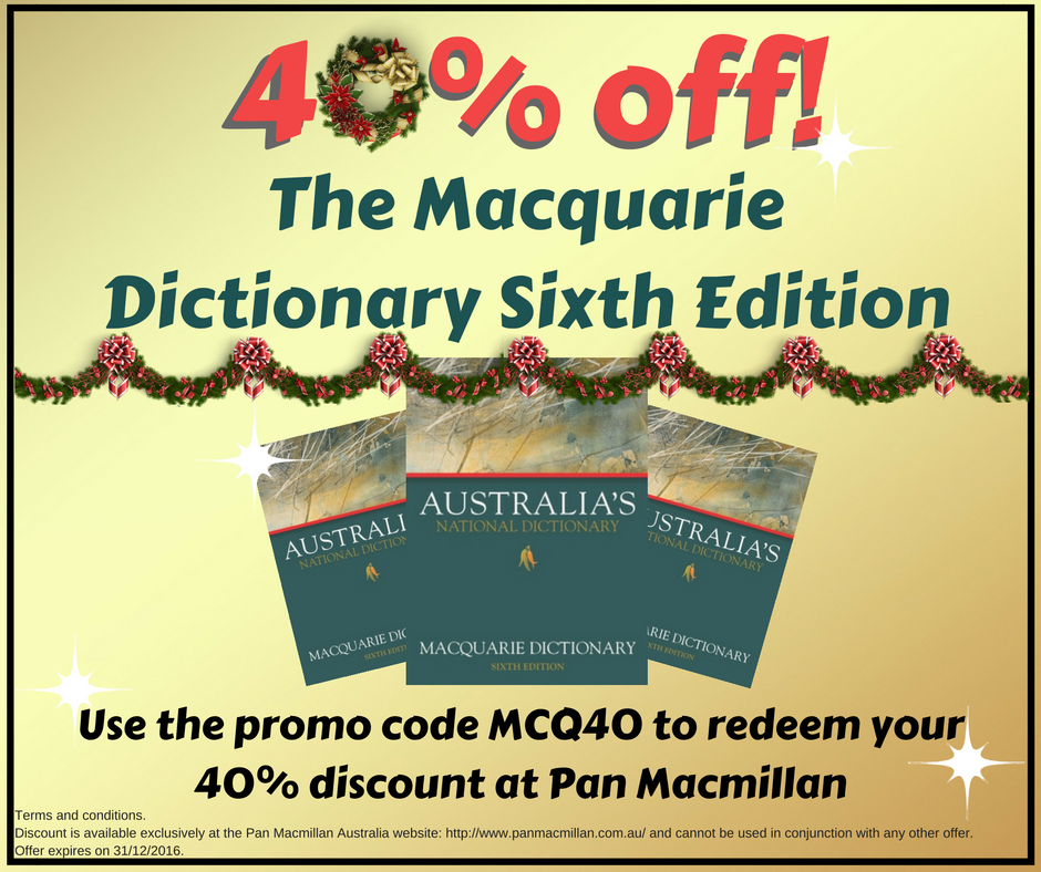 macquarie dictionary sixth edition 40% off sale christmas 2016