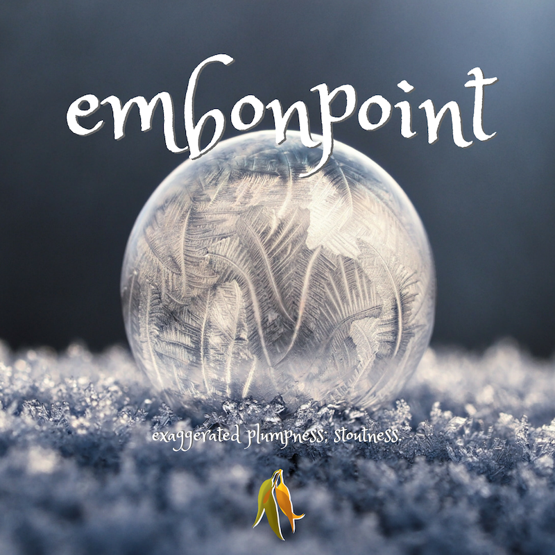 Beautiful words - embonpoint - exaggerated plumpness, stoutness