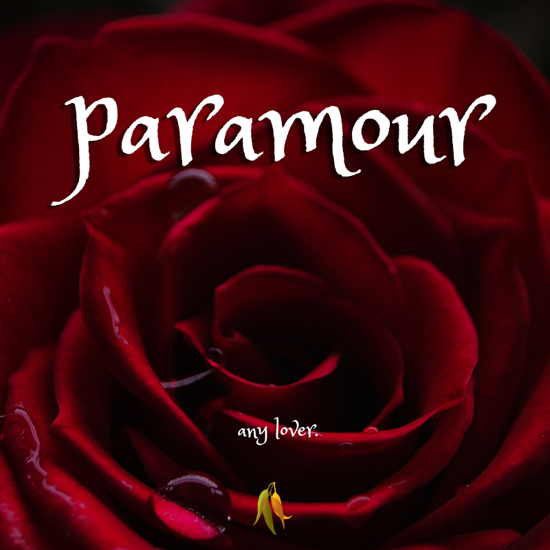 beautiful words - paramour - an illicit lover, especially of a married person