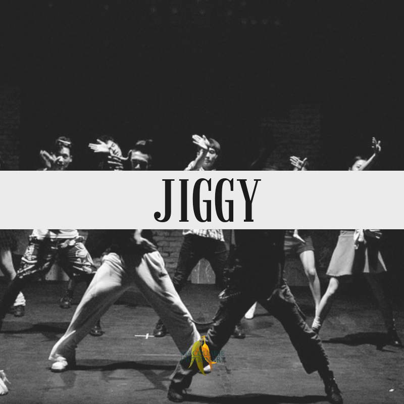Macquarie Dictionary-jiggy-stylish; sexy.