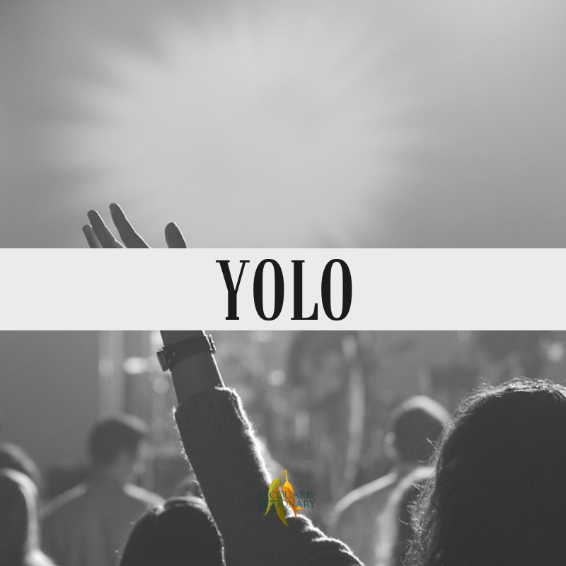Macquarie Dictionary-YOLO-you only live once.