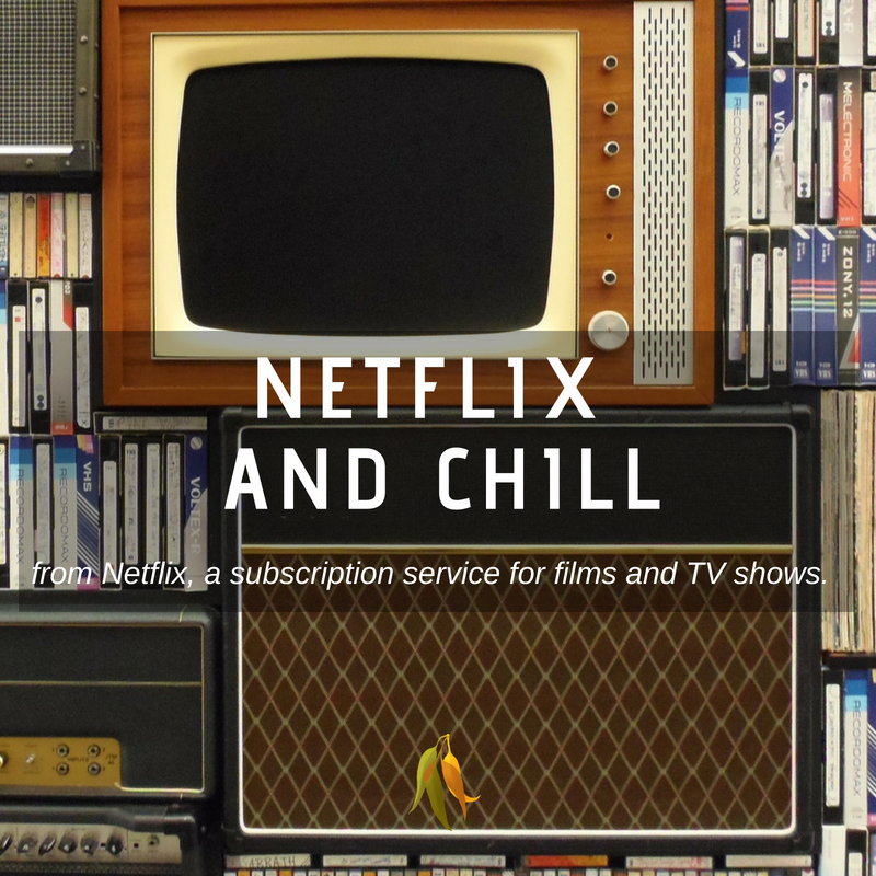 Macquarie Dictionary-Netflix and Chill-from Netflix, a subscription service for films and TV shows.