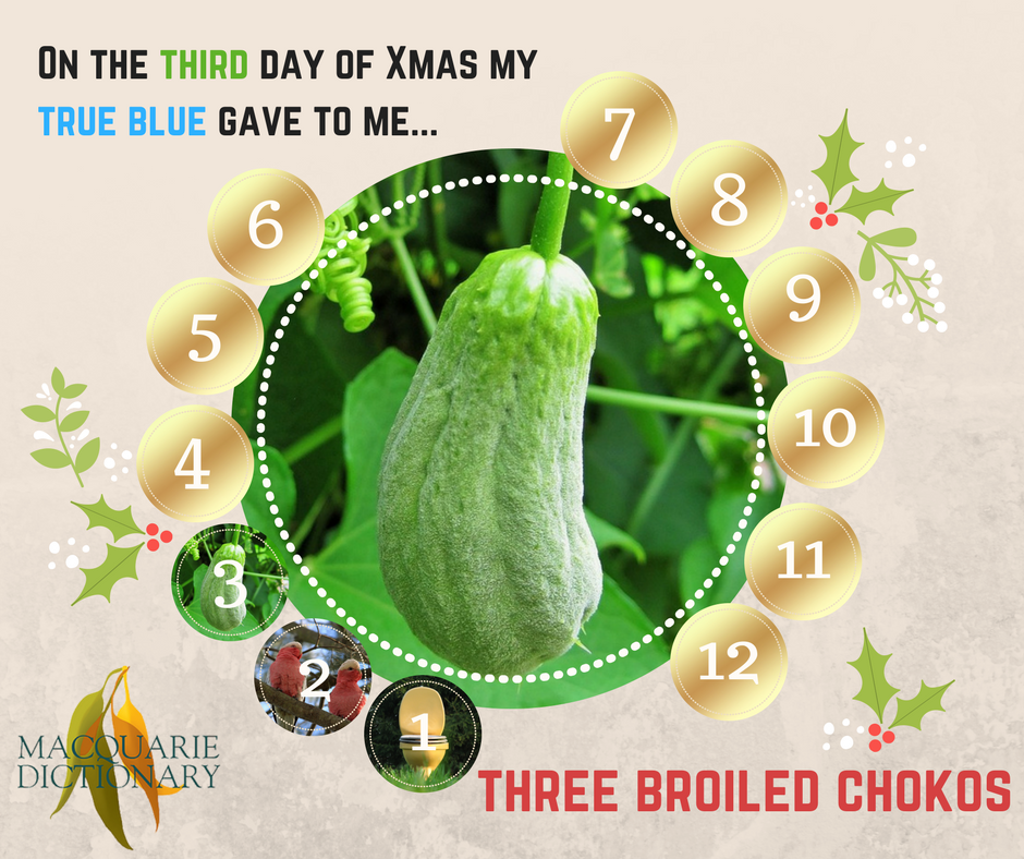 12 days of Aussie Christmas - three broiled chokos