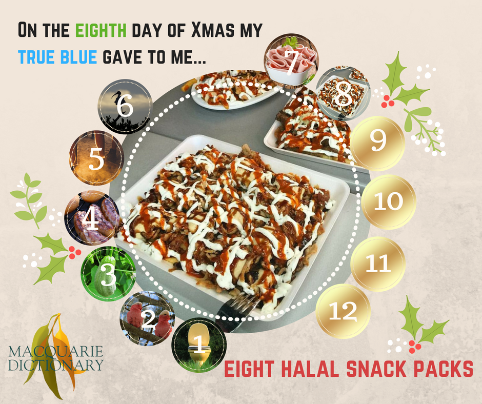 12 days of Aussie Christmas - eight halal snack packs