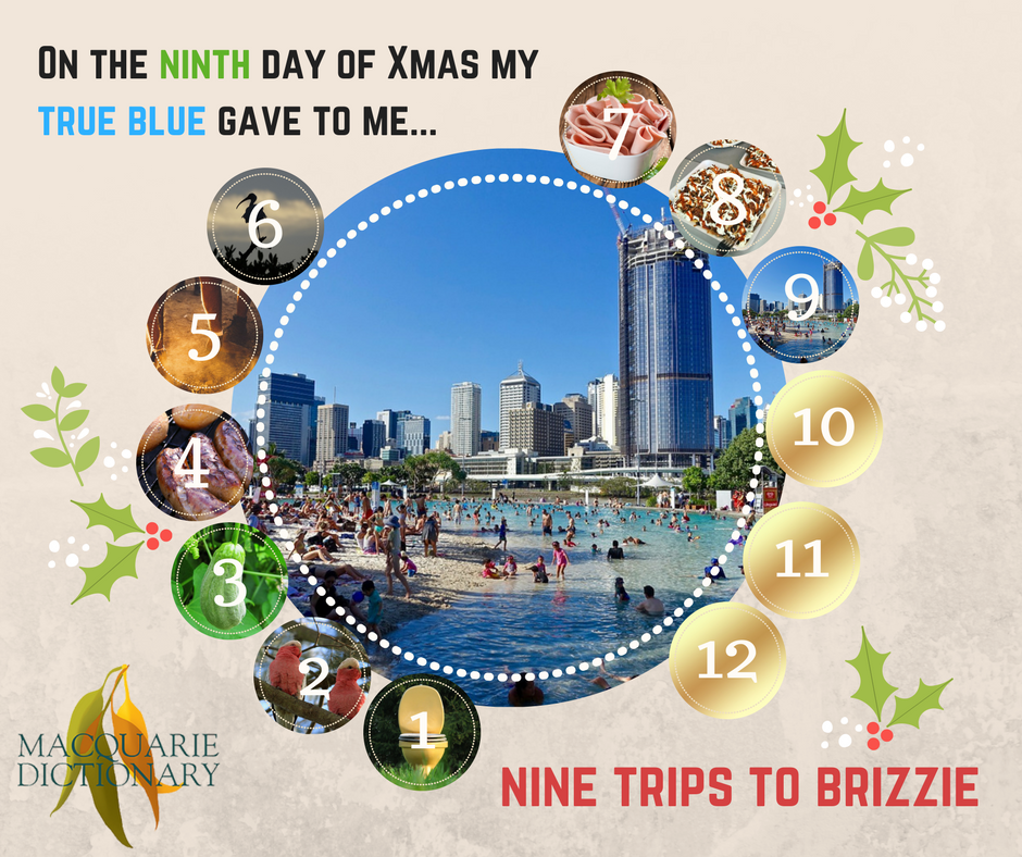12 days of Aussie Christmas - nine trips to Brizzie