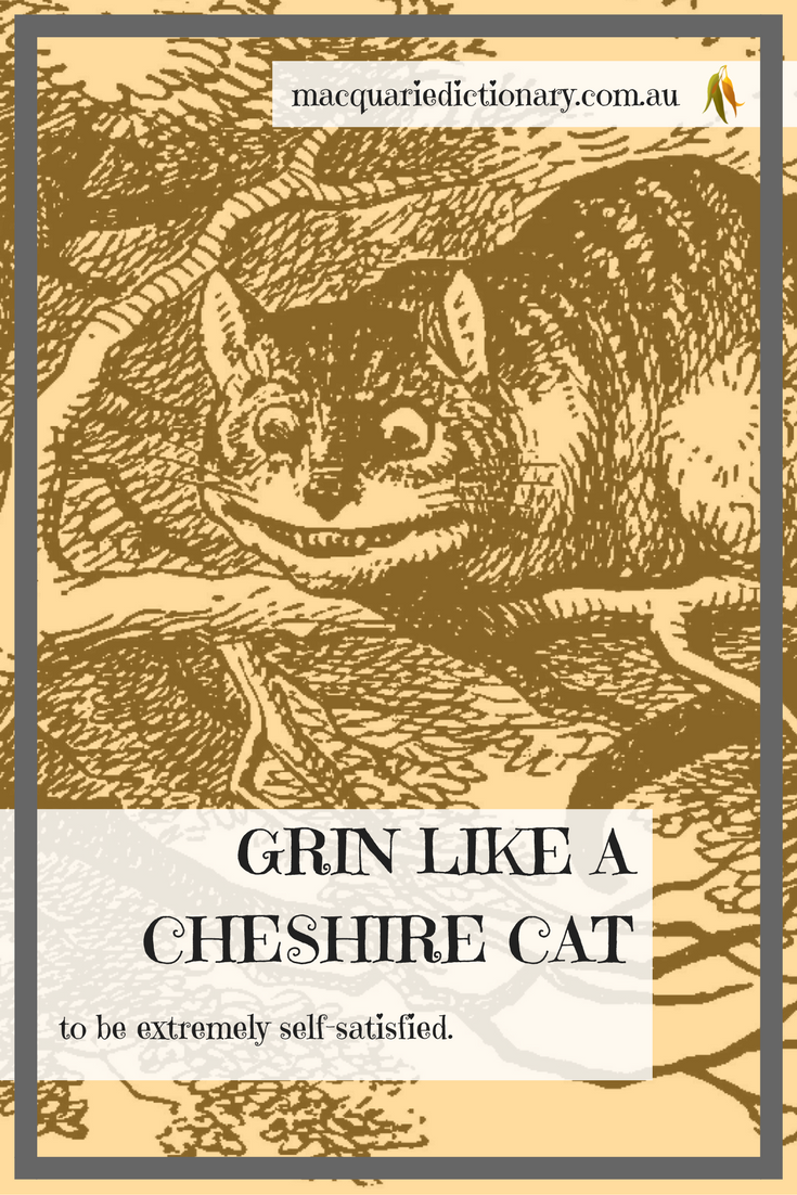 Lewis Carroll words in Macquarie Dictionary cheshire cat