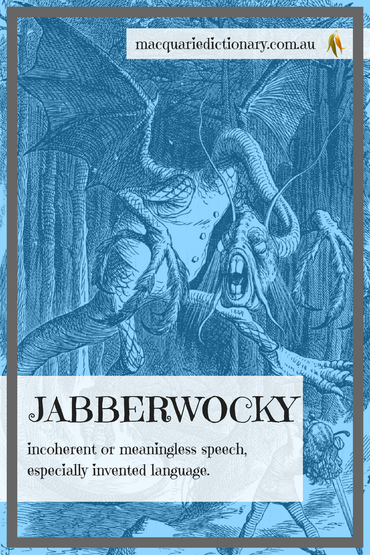 Lewis Carroll words in Macquarie Dictionary jabberwocky