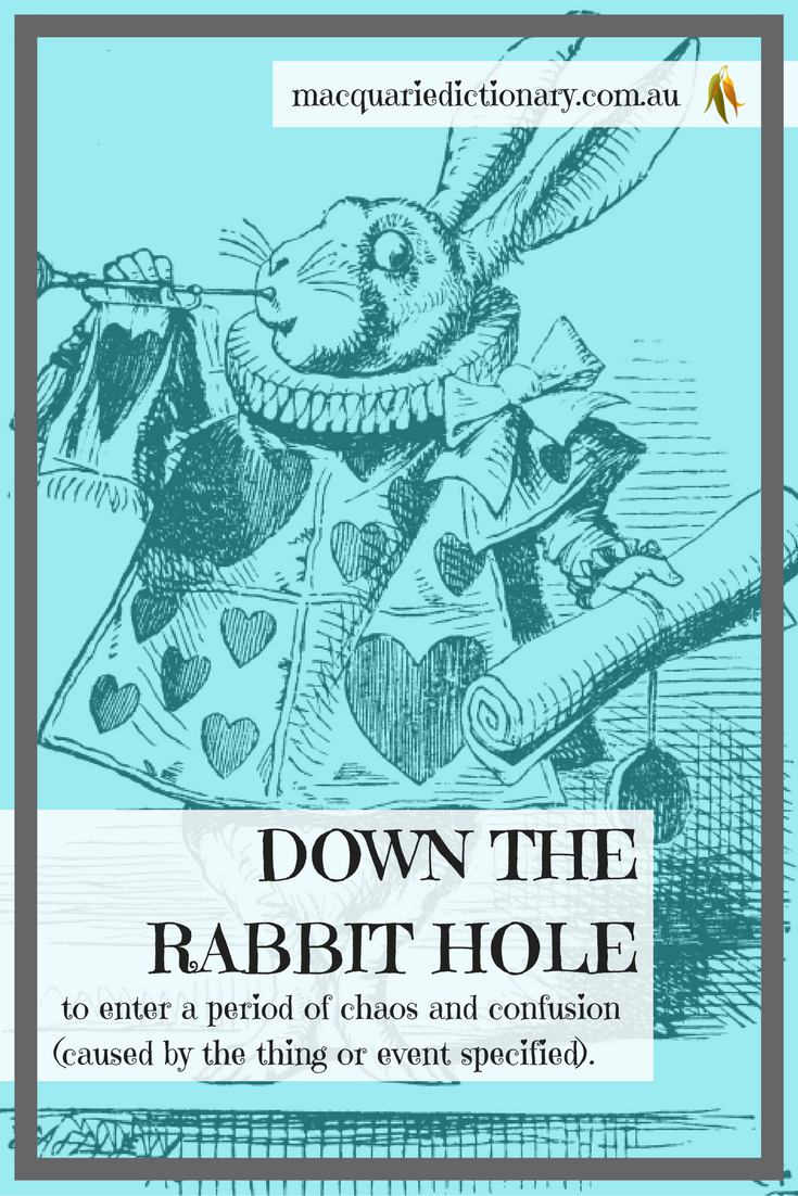 Lewis Carroll words in Macquarie Dictionary rabbit hole