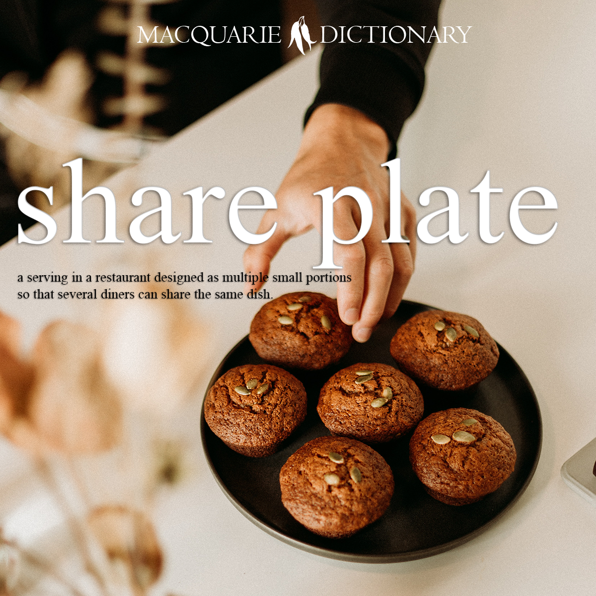 share plate - a serving in a restaurant designed as multiple small portions so that several diners can share the same dish.