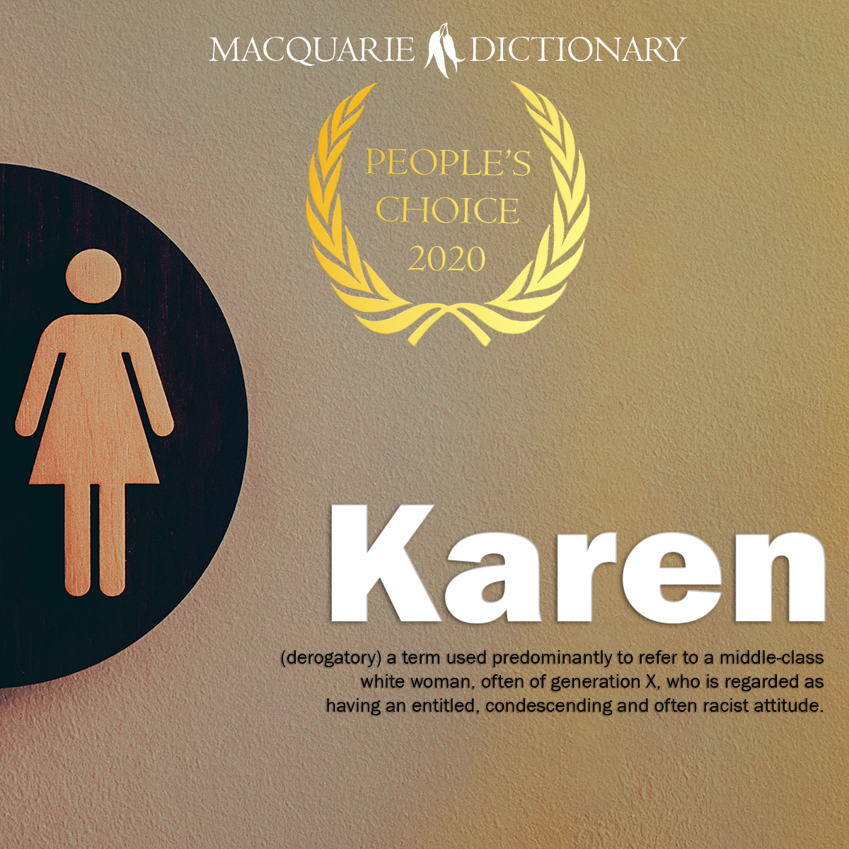 People's Choice Word of the Year 2020 Karen