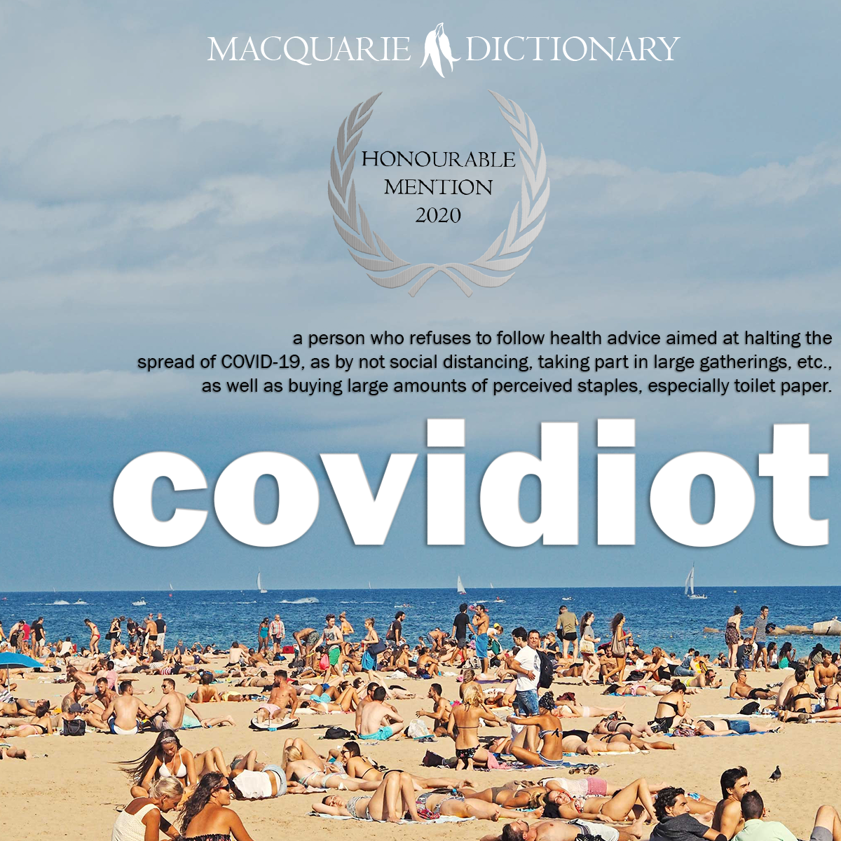 otcovidi - a person who doesn't abide by new restrictions to help stop the spread of COVID-19
