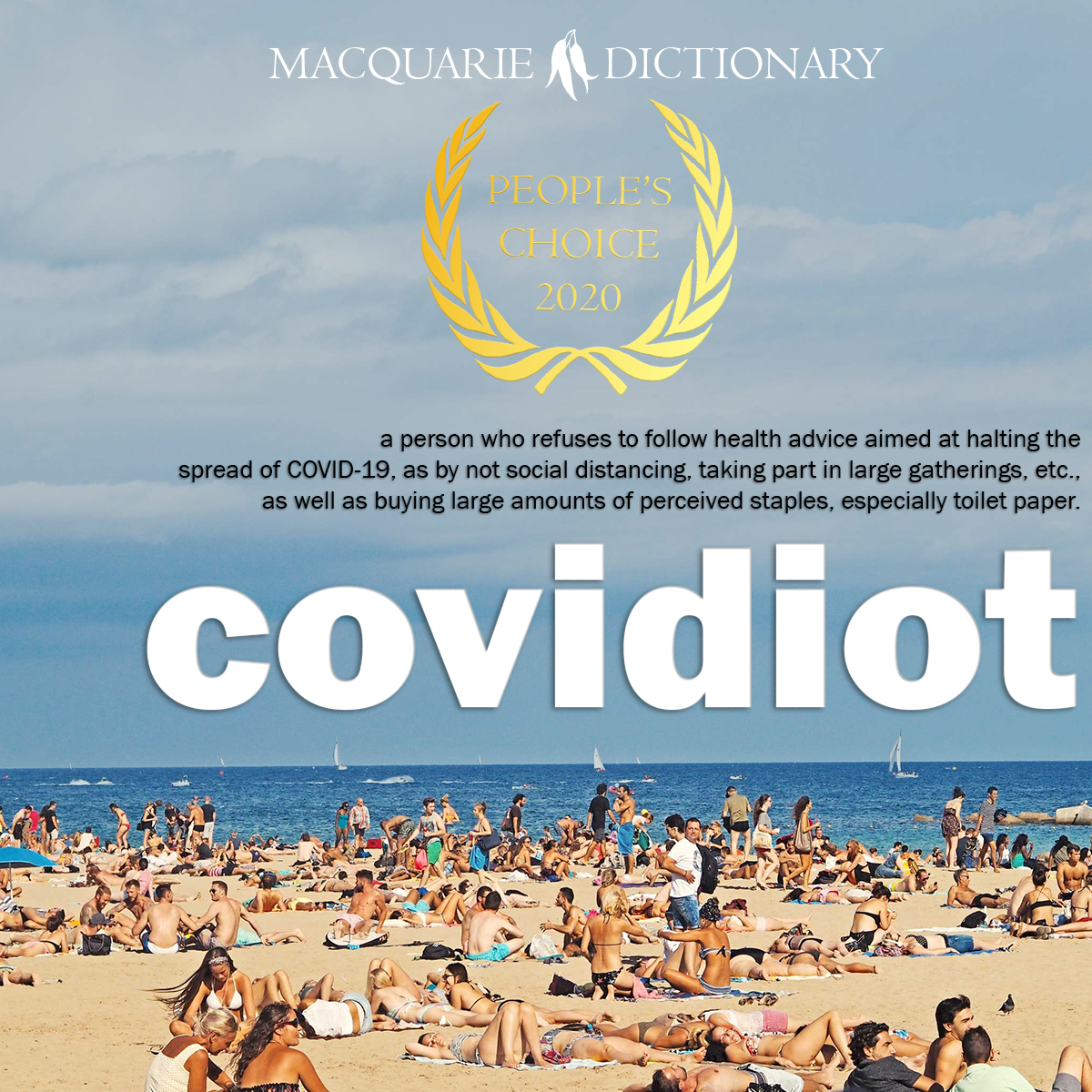 People's Choice Word of the Year 2020 covidiot COVID