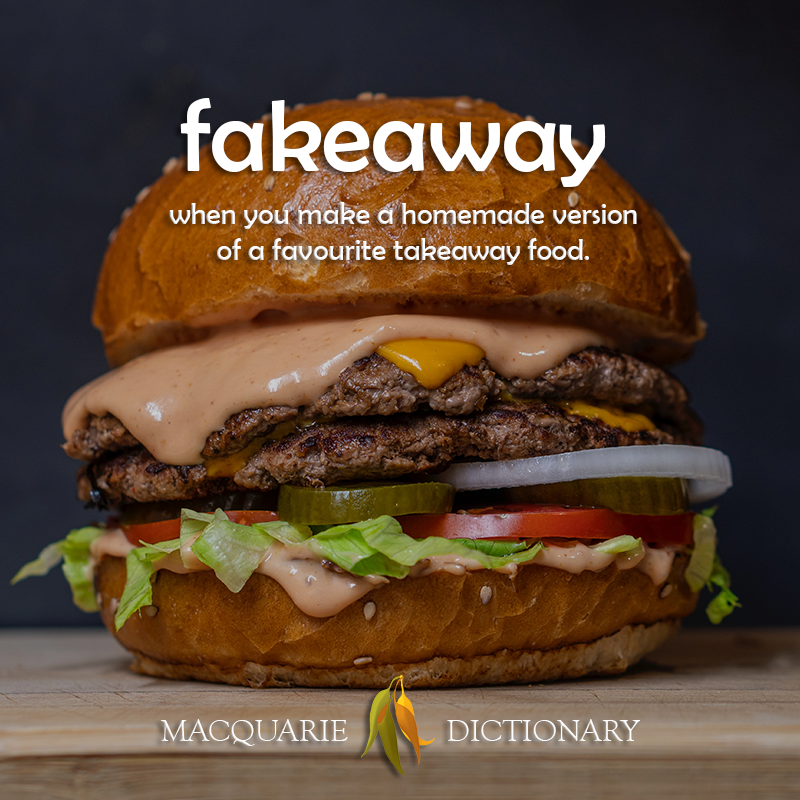 New words fakeaway - when you make a homemade version of a favourite takeaway food