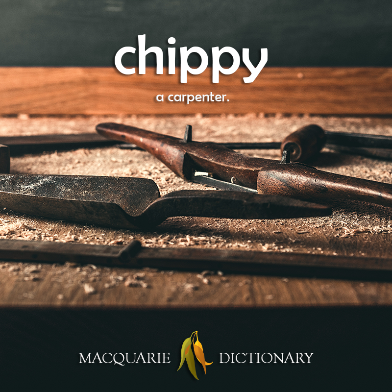 New words square - chippy - a carpenter
