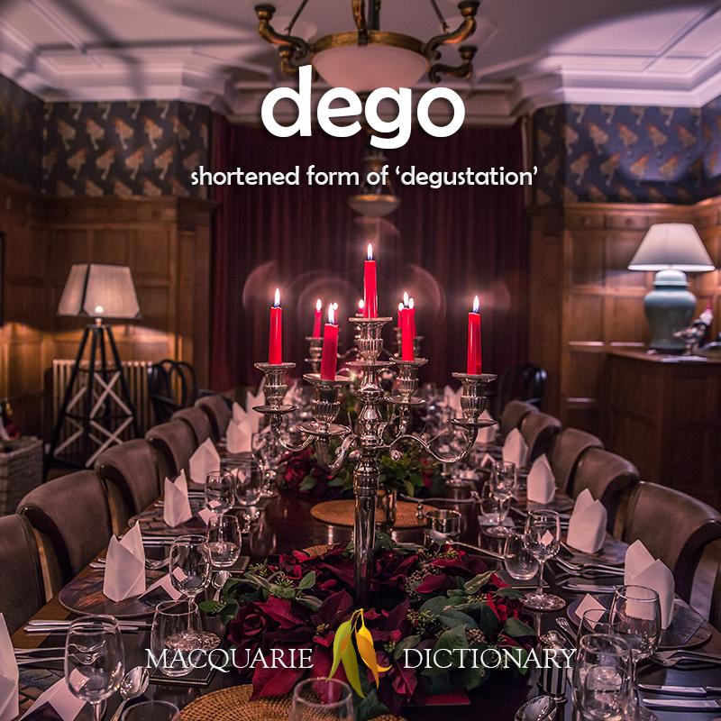 New word - dego - degustation