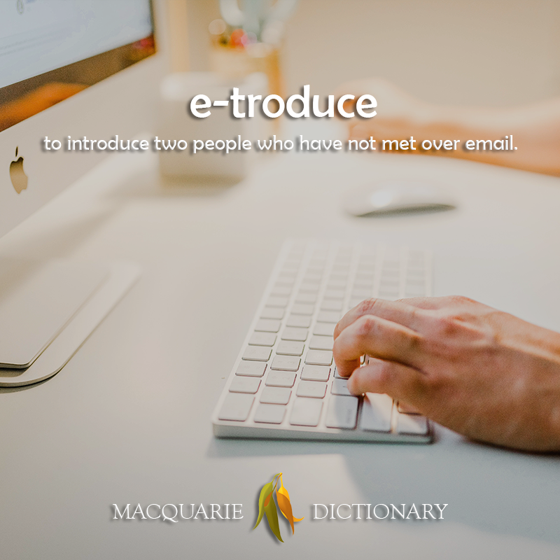 e-troduce - to introduce two people who have not met over email