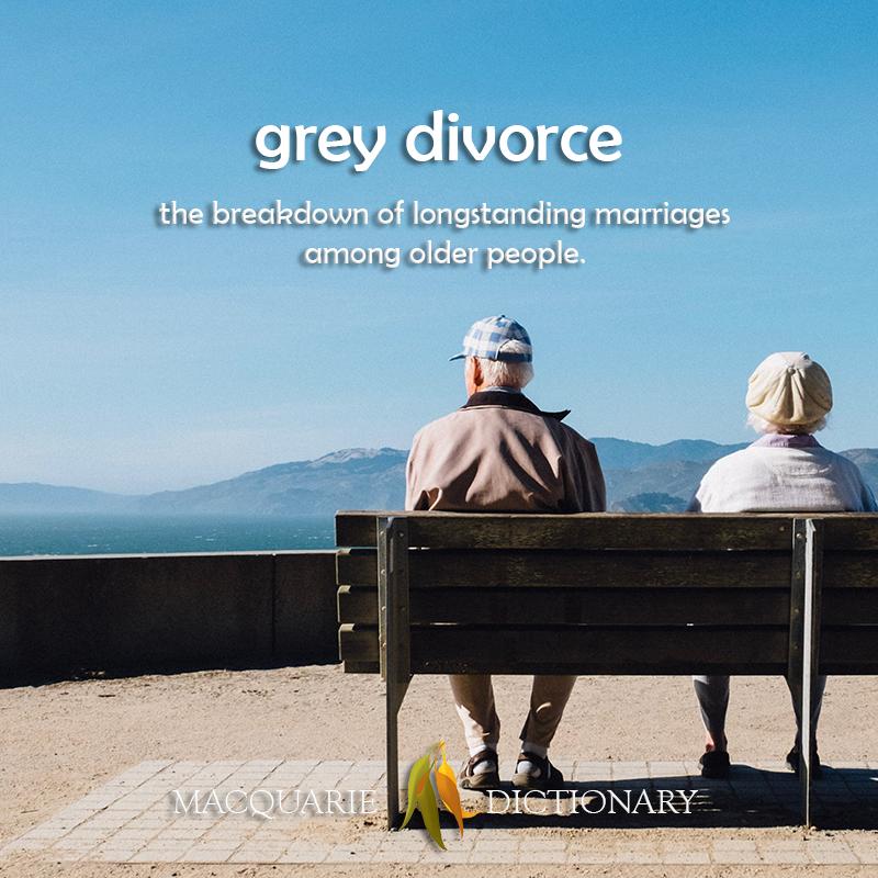 grey divorce - the breakdown of longstanding marriages among older people