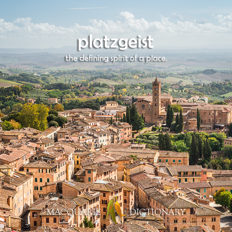 New words square - platzgeist - the defining spirit of a place