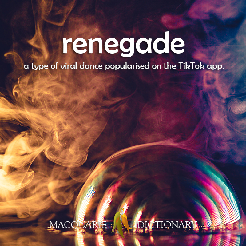 renegade - a type of viral dance popularised on the TikTok app