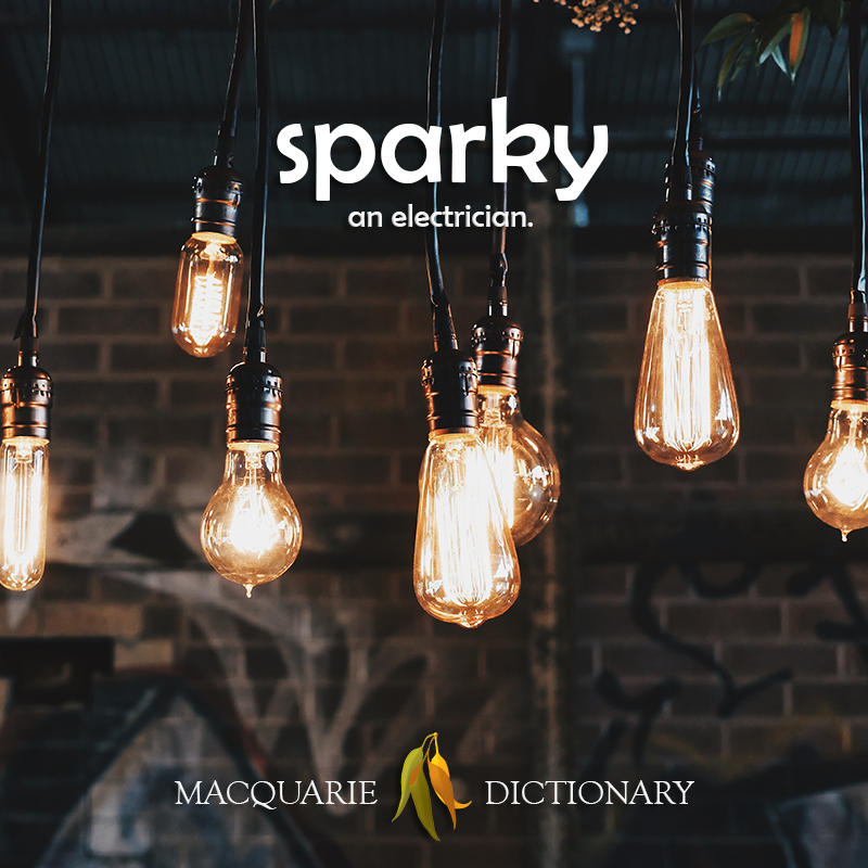 New words square - sparky - an electrician