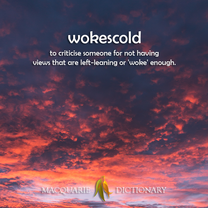 wokescold - to criticise someone for not having views that are left-leaning or 'woke' enough