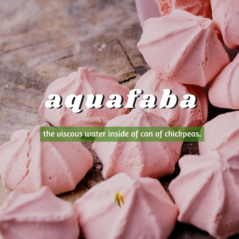 Macquarie Dictionary-aquafaba-the viscous water inside of can of chickpeas.