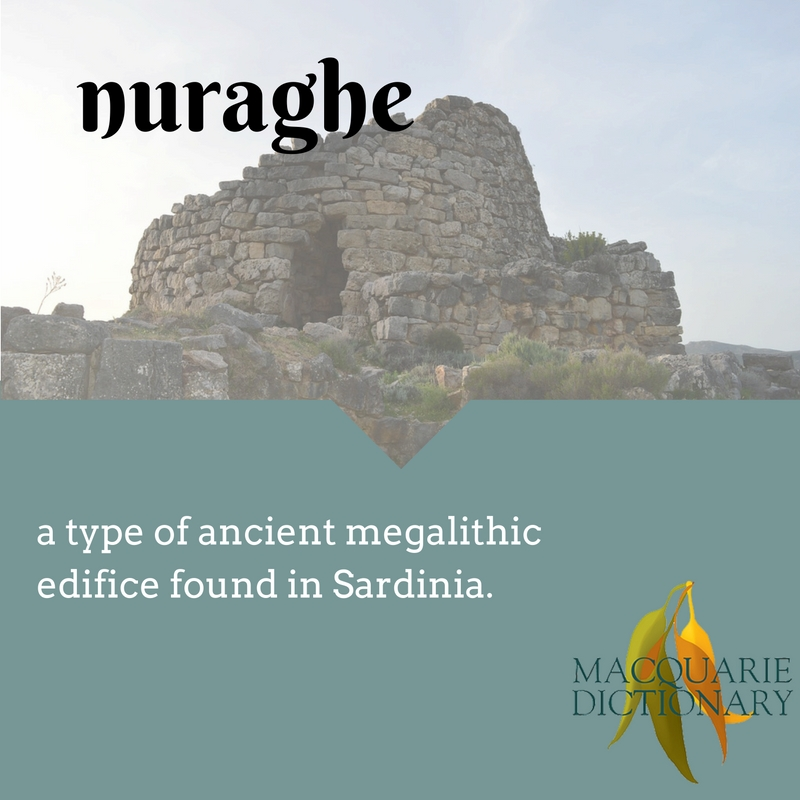 nuraghe a type of ancient megalithic edifice found in Sardinia.
