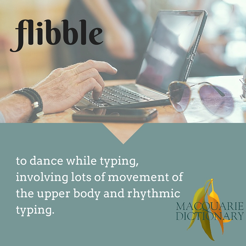 to dance while typing, involving lots of movement of the upper body and rhythmic typing.