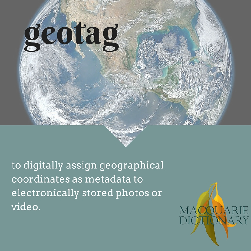 to digitally assign geographical coordinates as metadata to electronically stored photos or video