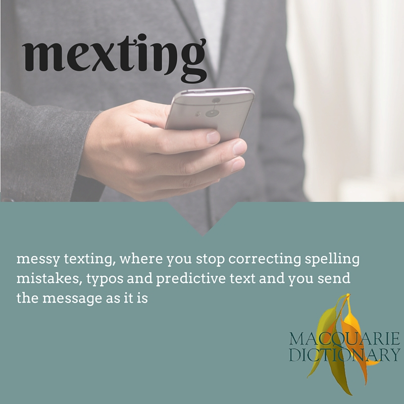 messy texting, where you stop correcting spelling mistakes, typos and predictive text and you send the message as it is.