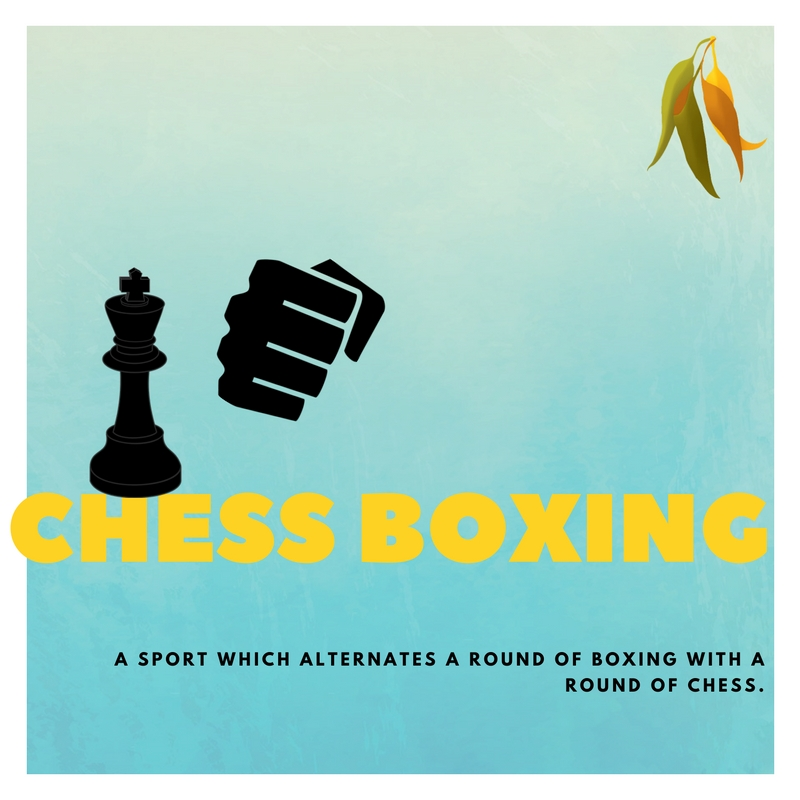 chess boxing A SPORT WHICH ALTERNATES A ROUND OF BOXING WITH A ROUND OF CHESS.