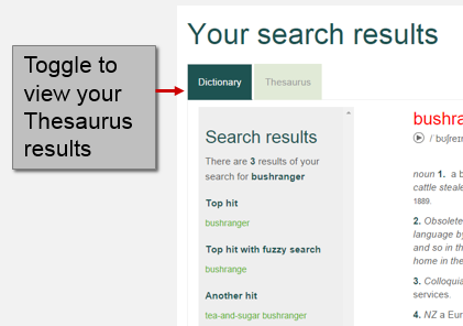 thesaurus search results
