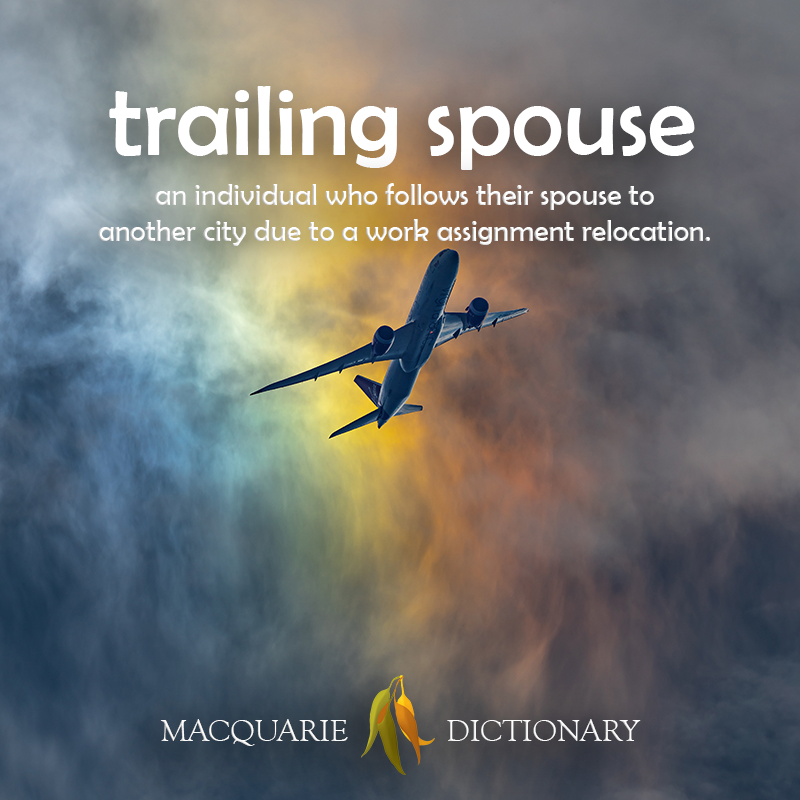 Image of definition of trailing spouse: an individual who follows their spouse to another city due to a work assignment relocation.